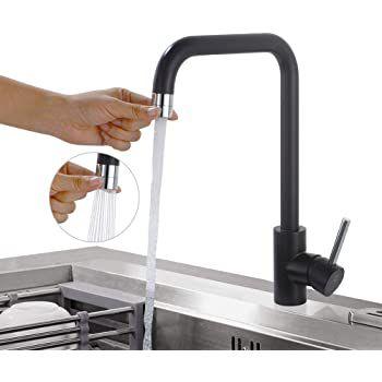 Homelody SD8034BK Küchenamatur in Schwarz mit 2 Strahlarten für 27,99€ (statt 43€)