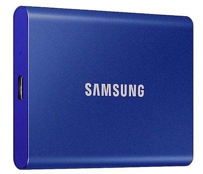 Vorbei! Samsung T7 Portable SSD mit 2TB in Blau für 218€ (statt 399€)