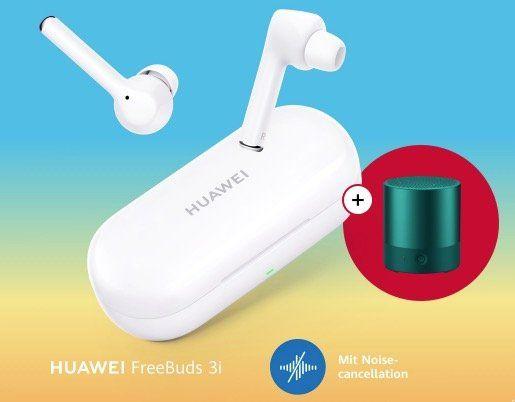 Huawei FreeBuds 3i Kopfhörer mit Noise Cancelling für 119€ + gratis Lautsprecher