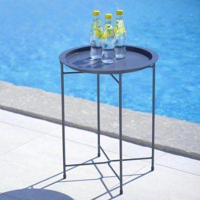 2x Gartentisch Carole in Dunkelblau, Orange oder Dunkelgrau (40 x 51,5cm) für 15€ (statt 40€)