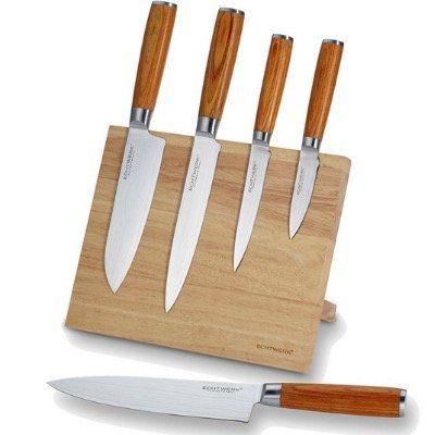 Echtwerk Damaszener Messer Set 5teilig inkl. Magnet Messerblock ab 89,99€ (statt 120€)