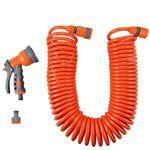 FUXTEC Spiralschlauch FX-SPS1 15 Meter mit Wasserstopp und Multifunktionsbrause für 15,99€ (statt 20€)