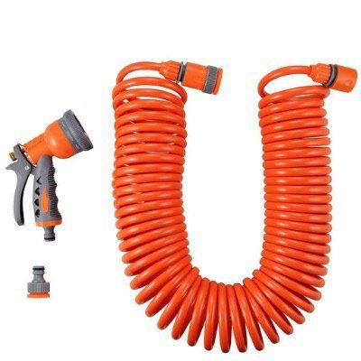 FUXTEC Spiralschlauch FX SPS1 15 Meter mit Wasserstopp und Multifunktionsbrause für 15,99€ (statt 20€)