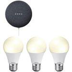 Google Nest Mini inkl. 3x Hama WiFi LED-Birne für 59€ (statt 86€)