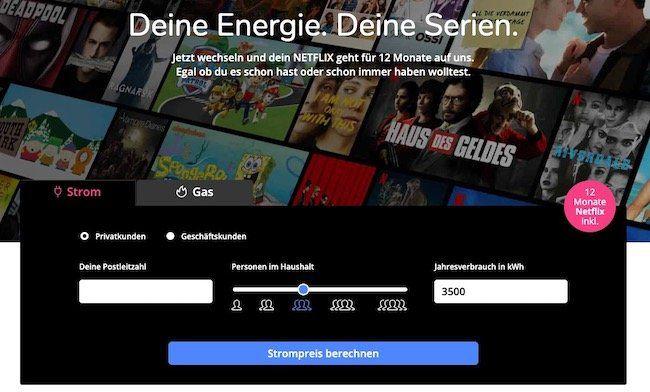E wie einfach Ökostrom (Strom/Gas) mit 12 Monaten Preisgarantie + bis 100€ Sonderbonus + 12 Monate Netflix (Wert 144€)