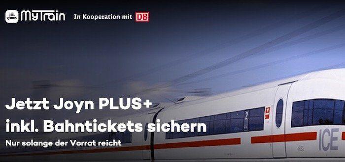 MyTrain: 2x Bahntickets für ICE, IC und EC inkl. 6 Monate Joyn PLUS+ für 79,90€ (statt 100€)