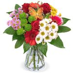 Blumenstrauß Beste Mama mit verschiedenen Blumen zum Muttertag für 25,38€ – Lieferung leider Montag!