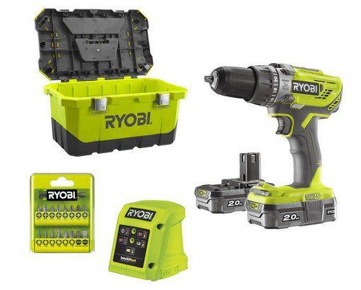 Ryobi R18PD3 220T Schlagbohrer inkl. 2 Akkus + Werkzeugkasten für 128,90€ (statt 159€)