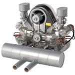 Porsche Carrera-Rennmotor Funktionsmodell mit über 300 Bauteilen für 129€ (statt 162€)