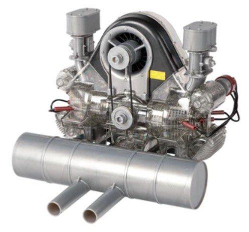 Porsche Carrera-Rennmotor Funktionsmodell mit über 300 Bauteilen für 120€ (statt 155€)