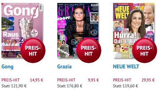 Muttertag: Zeitschriften Abos direkt rabattiert   z.B. 53 Ausgaben GONG nur 14,95€