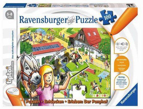 tiptoi   Puzzlen, Entdecken, Erleben   Der Ponyhof (100 Teile) ab 7,99€ (statt 17€)