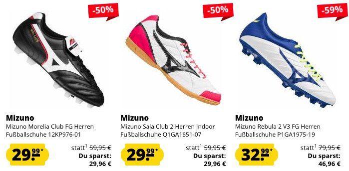 Mizuno Sport Sale bei SportSpar + 5€ Gutschein ab 60€   z.B. Mizuno Sala Club 2 Indoor Fußballschuhe ab 25,99€