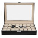 Uhren-Schaukoffer aus Kunstleder für 24 Uhren für 15,59€ (statt 26€) – Prime