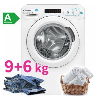 Candy CSWS 596D/5 S Waschtrockner 9kg Waschen 6kg Trocknen mit 1500 U/Min für 299,99€ (statt 399€)