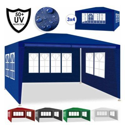 KESSER Pavillon in 3x4 Metern mit 4 aufrollbare Seitenwänden diverse Farben für 44,90€ (statt 53€)