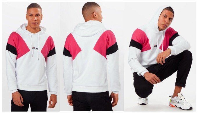 FILA Sweatshirt Bade in Pink Schwarz Weiß mit Kapuze für 29,94€ (statt 64€)