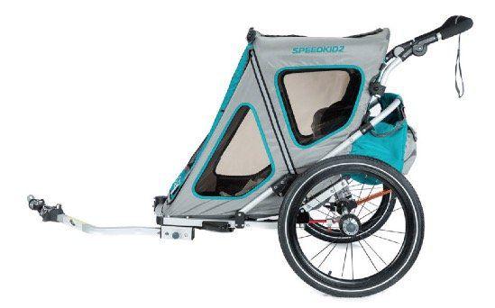 Qeridoo Kinderfahrradanhänger Speedkid2 Modell 2018 für 269,99€ (statt 313€)