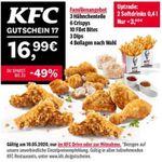 Letzter Tag: KFC 7 Tage und 14 Angebote – heute: großes Familienmenü für 16,99€ (normal 33,99€)