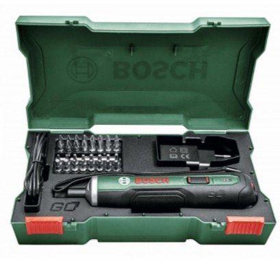 Bosch PushDrive Akkuschrauber inkl. Bohreinsatz-Set für 37,94€ (statt 48€)