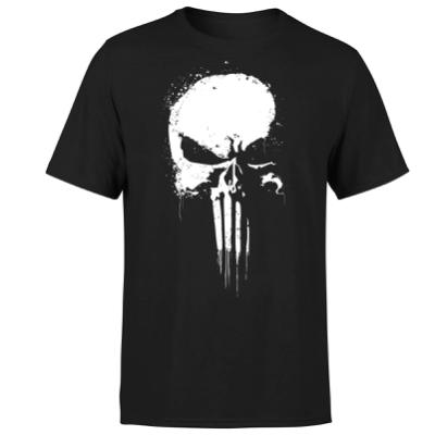 Marvel The Punisher Paintspray Damen & Herren T Shirt für je 10,99€ (statt 22€)