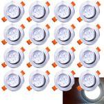 30% Rabatt – z.B. 20er Pack Hengda 3 Watt LED Einbauleuchten für 22,39€ (statt 32€)