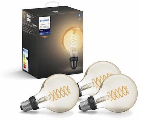 3er Pack Philips Hue White LED E27 Globe G93 Filament für 59,95€ (statt 80€)