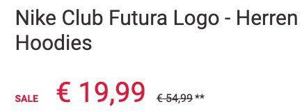 Ausverkauft! Nike Club Futura Logo Herren Hoodie in Grün für 19,99€ (statt 49€)