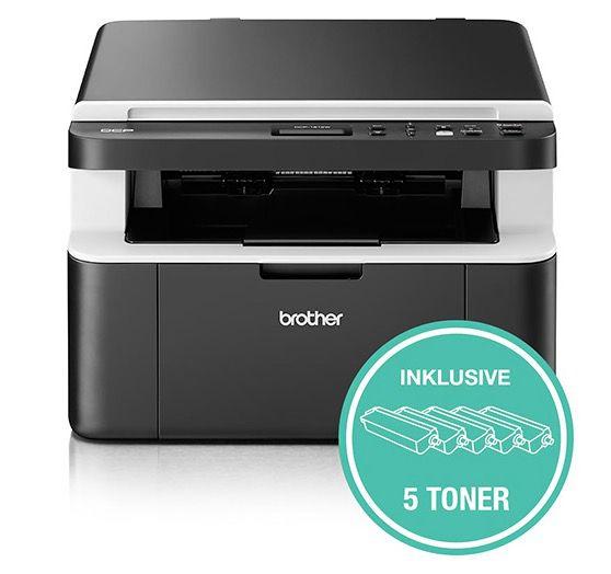 Abgelaufen! Brother DCP1612W 3 in 1 Laserdrucker mit WLAN inkl. 5 Toner für 139,90€ (statt 159€)