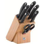 Zwilling Style Bambus Messerblock mit 6 Messern + Schere für 69,99€ (statt 90€)