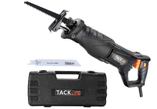 TACKLIFE Säbelsäge RPRS01 mit LED Licht und 850Watt & 2800 SPM für Holz & Metall im Koffer für 42,99€ (statt 60€)
