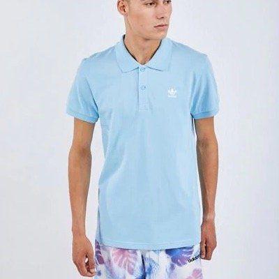adidas Originals Poloshirt Trefoil Essentials in Hellblau für 14,99€ (statt 30€)