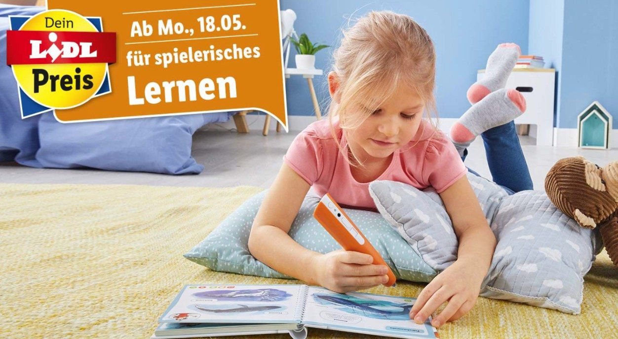Ravensburger tiptoi Angebote bei LIDL   z.B. Puzzlen, Entdecken, Erleben   Der Ponyhof (100 Teile) ab 9,99€ (statt 17€)