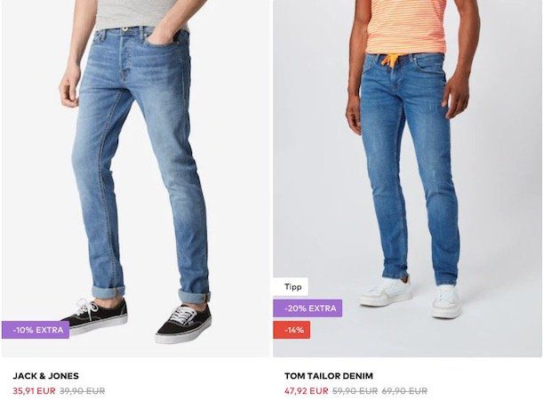 About You mit bis zu 30% Rabatt auf Marken Jeans + keine VSK