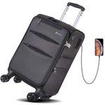 REYLEO 20 Zoll Handgepäck-Koffer LUG20B mit 8 Rädern, TSA-Schloss und USB-Ladeanschluss für 24,99€ (statt 45€)