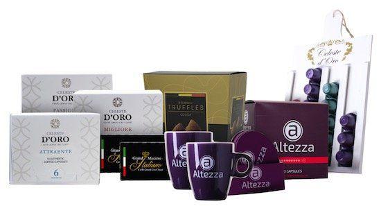 Nespresso Kapsel Probepaket mit 60 Kapseln, belgischen Trüffeln und 2 Tassen für 34,99€