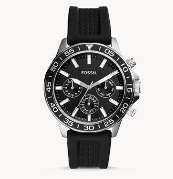 Fossil Bannon Multifunktions Herrenuhr mit Silikon Armband für 63€(statt 89€)