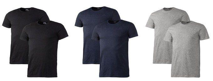 6x Kappa T Shirts in Schwarz, Blau oder Grau für 36€ (statt 64€) + Rucksack mit Kühlfach geschenkt
