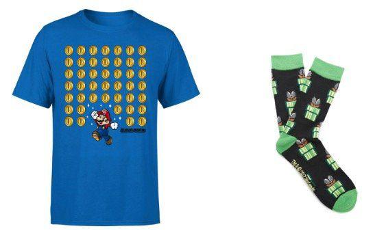Nintendo Super Mario T Shirt (in S bis 2XL) + Socken für 8,99€ (statt 35€)