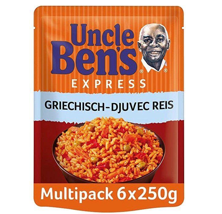 Vorbei! 6er Pack Uncle Bens Express Reis Griechisch ab 5,94€(statt 10€)