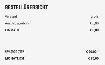 🔥 Telekom Flat von Sparhandy mit 20GB LTE für 20€ mtl. + keine Anschlussgebühr