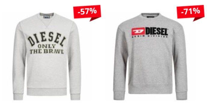 Diesel Pullover in Restgrößen für je 34,34€ (statt 55€) + 5€ Gutschein ab 60€
