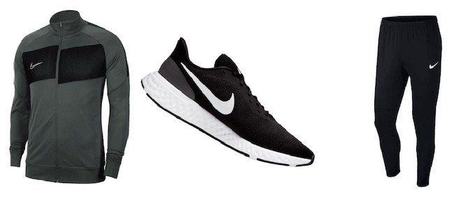 Nike Laufschuhe + Jacke + Trainingshose für 77,95€(statt 91€)