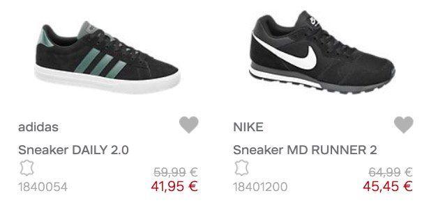 Deichmann mit 30% Rabatt auf ausgewählte Schuhe   z.B. Nike MD Runner 2 für 45,45€