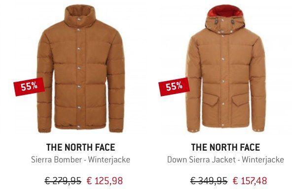🔥 The North Face Restposten Sale bei den Bergfreunden   z.B. Sierra Bomber Winterjacke für 120,98€ (statt 172€)