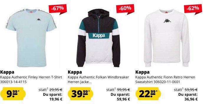 Kappa Mega Sale bis  80% bei SportSpar   z.B. Trainingsjacke nur 16,16€ (statt 45€)