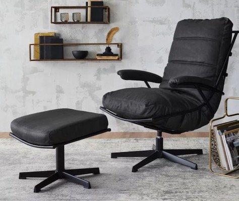 Relaxsessel im Lederlook mit Hocker bis max. 140kg für 74,85€