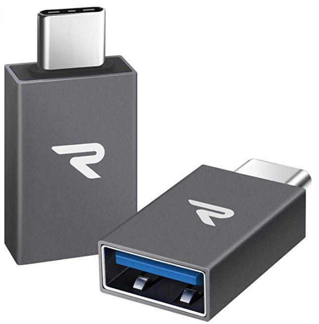 2er Pack Rampow USB C Adapter für 4,49€ (statt 9€)   Prime