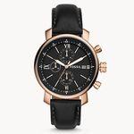 Ausverkauft! Fossil Rhett Chronograph mit schwarzem Leder-Armband für 47€ (statt 159€)