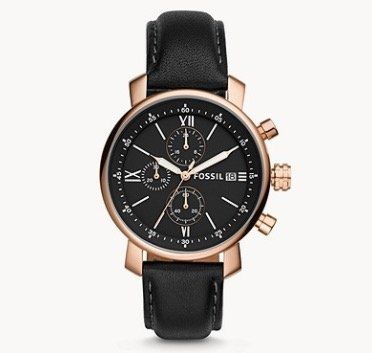 Ausverkauft! Fossil Rhett Chronograph mit schwarzem Leder Armband für 47€ (statt 159€)
